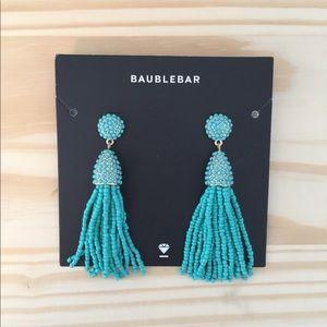 Baublebar turquoise tassel earrings (NWT)